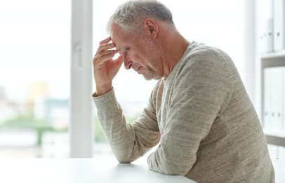 man thinking before low T treatment
